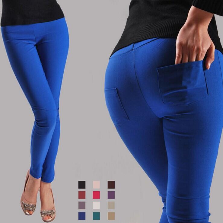 Crayon de couleur 2014 nouveau bonbon ceinture,'pantalon piedsde'pantalon rendu des couleurs printemps, crayon jeans, minces. femmequalité pantalons, dame. 25-32 jeans,