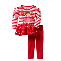Fashion Minnie Baby Girls Clothes Long Sleeve Cotton T shirt with Legging Kids Clothes Sets Brand Children Clothing