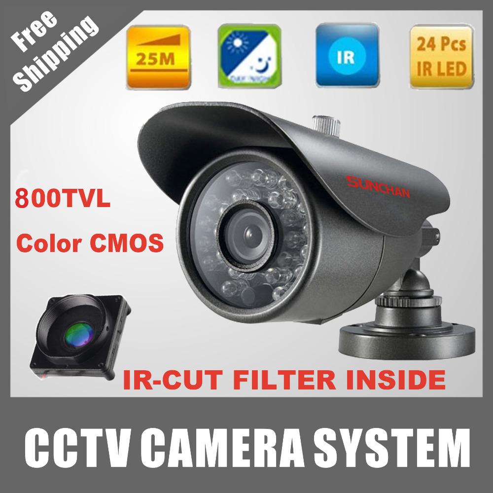 SUNCHAN Best Price CMOS Sensor 800TVL 36pcs IR leds Security Camera With IR-CUT Waterproof CCTV Camera with Bracket(China (Mainland))