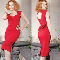 Red Dress Women's Summer Sexy Slim Hollow Dress Red Black 2014 New Fashion Night Club Party Clothing