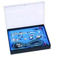 dual action airbrush air brush kit with airbrush hose  and spray gun for Nail Art/ tattoos body spray/ cake making/ toy models