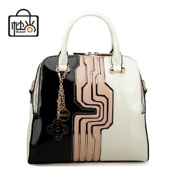Dusun известный бренд дизайнер женщин сумки старинные женщин сумка элегантный высокое качество подлинной лакированной кожи сумки на ремне bolsas