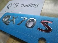 [ QX70S ] GENUINE PARTS QX70 LIMITED Edition FX35 LOGO FX37 ALL NEW 5.0 BADGE G25 G35 Q45 Q50 [3D Stickers] [Q'S] 07909