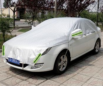 Silver Aluminum 3D Seamless Automotive Sun Shade Car Half Covers for Saloon, Hatchback, SUV