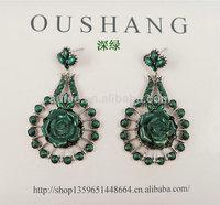 2014 Fashion flower CC earrings for women drop dangle rose earring for girls high quality cheap price free shipping