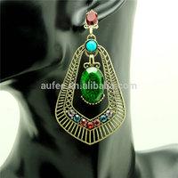 free shipping fashion accessories colorful cute long earring full rhinestone statement dangle earrings female