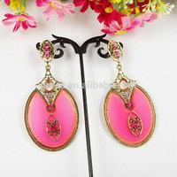 Fashion Fine Stainless Steel Whole Screw long Earrings dangle For Women Novelty Item  free shipping