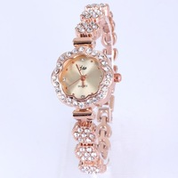 Famous design popular ladys watches diamond rhinestone flower bracelet white reloj for women dropship top quality free shipping