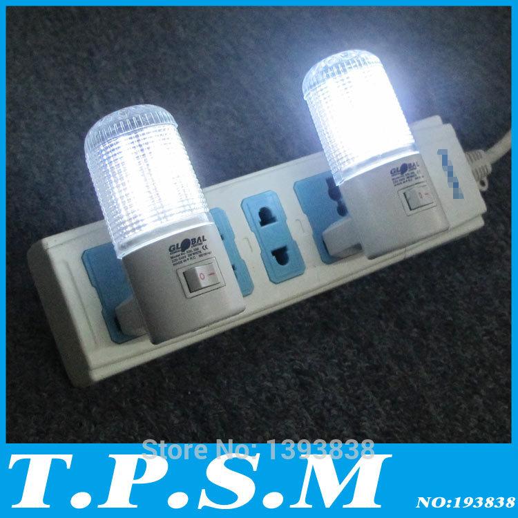 Only 3W 2pcs/lot 4 LED Wall Mounting Bedroom Night Lamp Light Plug Lighting AC energy-efficient light Romantic Night Light(China (Mainland))