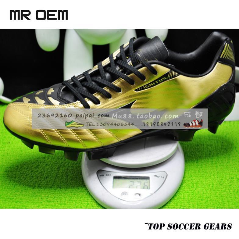 2014 Onda Ignitus 3 FG TRX Pro Top MD futebol sapatos Botas Maya Yoshida Ouro futebol / Preto Grampos Outdoor sapatos Athletic(China (Mainland))