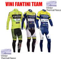 2014 vini fantini Winter Thermal Fleece Cycling Jersey Long Sleeve and Bike bib Pants ropa ciclismo maillot clothing 2013 !!