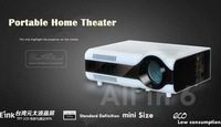 LED-2+ affordable 1500lumens LED Projector mini Portable LCD multimedia digital Video High Quality!