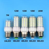 E27 36LEDS SMD 5730 (=Incandescent lamp 60W) LED Corn Bulb 220V - 250V Warm white cold white LED Lights