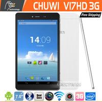 Free Shipping  Chuwi V17HD 3G Intel Atom Z2520 Dual Core 1.2GHz T  7 Inch IPS Screen Dual Camera Support Bluetooth GPS WCDMA