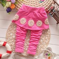 2015 spring baby pants for girls leggings dots flower cotton girls skirt legging CC20