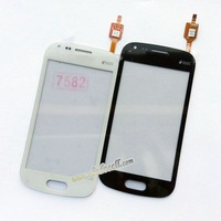 10pcs/lot Touch Screen Digitizer Glass For Samsung Trend Plus S7580 S7582 with logo Free ship