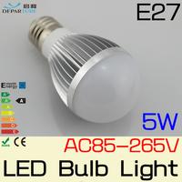 2x5W High Lumens SMD5730  Globe LED Bulb light  Energy saving E27 light bulb lamp No stroboscopic AC85-265v Free shipping