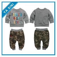 2014 new arrive children boys sport suit gray t shirt + pants cloth set boys clothing set kids clothes sets autumn wear