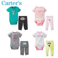 Newborn Carters Brand Clothes Set Baby Girls Boy Cotton Clothing Set Kid Short Bodysuit+PP Pant 2pcs Outerwear Children Clothes