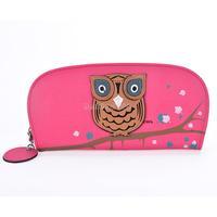 New Arrival Owl Stereoscopic Print PU Leather Handbag Lady wallet Women Clutch Purse Evening Bag freeshipping b8 SV007505