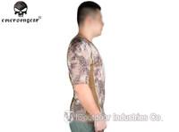EMERSONGEAR V-neck Running Shirts Skin Tight Base Layer Breathable perspiration Short sleeve Tshirt EM9167H Highlander kryptek