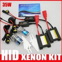 Free Shipping! DC HID Xenon kit 35W H1 H3 H7 H8 H9 H10 H11 880 881 9005 9006 9007  slim kit headlight  12V 35W  4300k-10000k