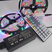 10M 5050 SMD RGB LED Light Strip IP65 Waterproof 600leds Car Lighting Decor Lamps+44 Keys Remote Controller+12V 5A Power Supply
