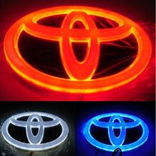 Fast shipping 5D TOYOTA CAR Auto Vehicle Rear Logo Badge Emblem Light lamp For RAV4/2011 REIZ/PRADO/COROLLA/CROWNYARIS/VIOS/WISH(China (Mainland))