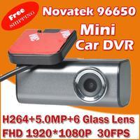 Free Shipping MINI Car Video Recorder DVR  with Novatek 96650 + WDR Technology + AVC 1080P 30FPS + G-Sensor + Wide Angle