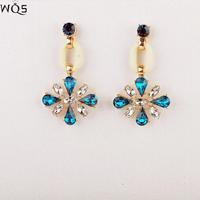 E0049 European and American fashion ear jewelry wholesale ladies wild temperament retro earrings alloy earrings