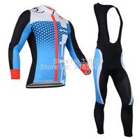 Autumn Winter Fleece cycling jersey/ cycling clothing Long Sleeve+Bib Pants Bike Clothes Breathable -BF0825 men women New 2014