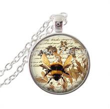 honeybee pendant necklace honey bee necklace animal jewelry long chain necklaces vintage jewelry women men wonderful