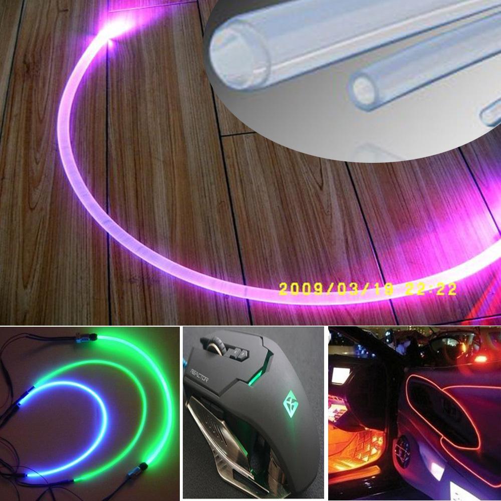super brightness 3mm soft pmma side grow light led fiber