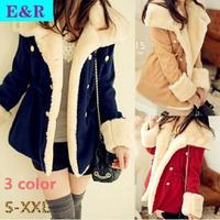 New 2014 Winter Warm Coats Women Wool Slim Double Breasted Wool Coat Winter Jacket Fashion Women Fur Women Coat Jackets