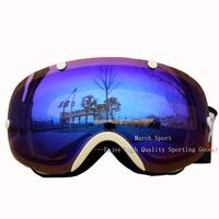 Deluxe Fashion Rimless Ski Skiing Snowboard Goggles Eyewear Glasses Blue UV Protection Anti Fog Dual Lens Men Women