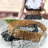 Hot fashion 7 Colors Women's Lady Tie Belt waistband seal Hollow out Buckle Waist belt decoration brief thin belt strap W00194