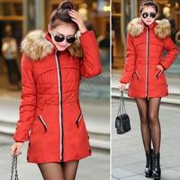 2014 New winter Parka long jacket women warm Jackets Parka women's fur Cotton coats winter coat women Down Parkas B11 SV006238