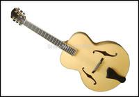 fully handmade solid wood jazz guitar