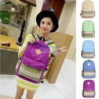 Woman Canvas Nose Shoulder Bag Rucksack School Bag Backpack Mochila Travel Bag SV18 OS000710