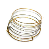 100% Real Pictures Alex and Ani bangle bracelets DIY 65mm gold and silver plated simple wiring bracelet for beading or charms