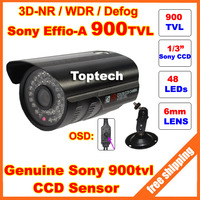 """New 1/3""""Sony Effio-A 900TVL 48 Led IR 35 Meters with OSD menu Indoor/Outdoor security night vision CCTV Camera with bracket"""
