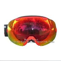 2014 Deluxe Fashion Rimless Ski Snowboard Snowmoblie Goggles Eyewear Glasses Red UV Protection Anti Fog Women