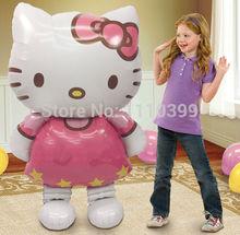 116*65cm large size Hello Kitty Cat foil balloons cartoon birthday decoratio