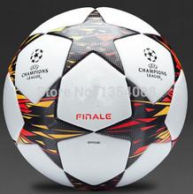 Free Shipping 2014 european cup european champions league ball seamless PU granules slip-resistant 5 Football Ball Soccer Ball(China (Mainland))