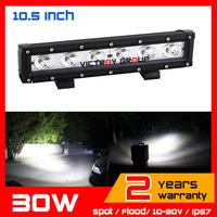 """11"""" 30W LED Work Light Bar Spot / Flood for 12v 24v Tractor ATV Offroad Fog light LED Worklight External Light Save on 60W"""