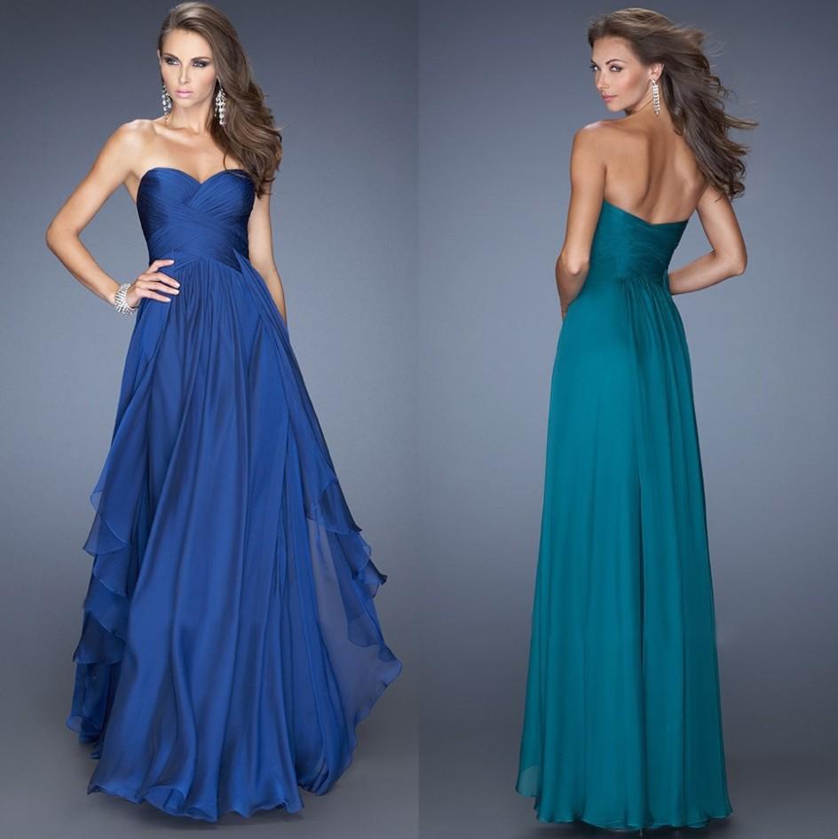 Midnight vestidos de dama de honor azul