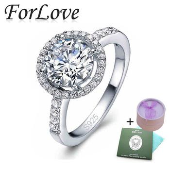 4 карат стерлингового серебра 925 пробы кольца CZ алмазов для женщин обручальные бренд кристалл оптовая продажа ювелирных изделий анель aneis о 210