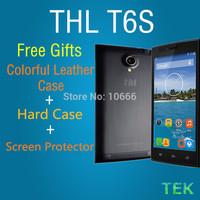 "THL T6S 5.0"" 5 Inch JDI Screen MTK6582 Quad Core Android 4.4.2 3G Phone 8MP CAM 1GB RAM 8GB ROM WCDMA Ultrathin free shipping"