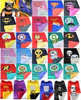 Superhero cape (1CAPE+1MASK) 50-63cm back Super Hero Costume for Children Halloween  Party Costumes for Kids Children's Costume