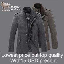 Classical winter jacket men windproof men jacket woolen jacket men warm woolen coat factory brand winter jacket men trench coat(China (Mainland))